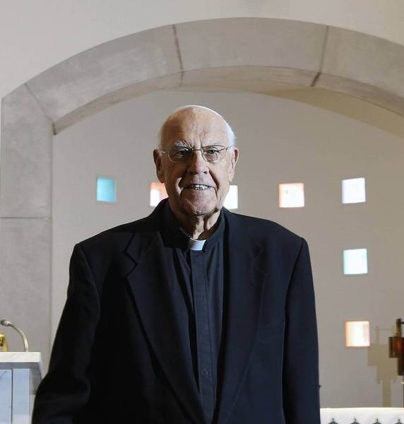 Monsignor John A. Kuzinskas, shown in the Holy Family Villa in Palos Park in 2010, received the honorary title of monsignor from Pope Benedict XVI that year.