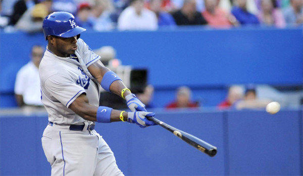 Yasiel Puig padded his stats with a 3 for 5 outing against Toronto with a home run, two runs batted in and two runs scored in the Dodgers' 8-3 victory over the Blue Jays on Wednesday.