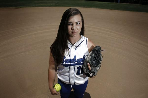 Burbank High dual-threat at the plate and in the circle, Caitlyn Brooks, is the All-Area Softball Player of the Year.