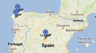 Interactive map: Train derails in Spain