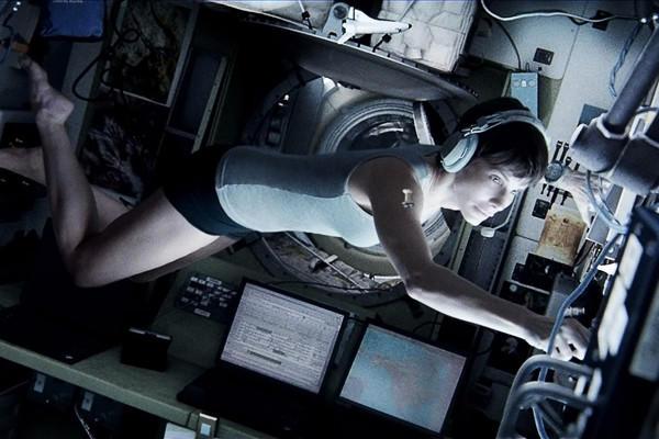 Sandra Bullock, as Dr. Ryan Stone, in Warner Bros. Pictures sci-fi thriller Gravity.