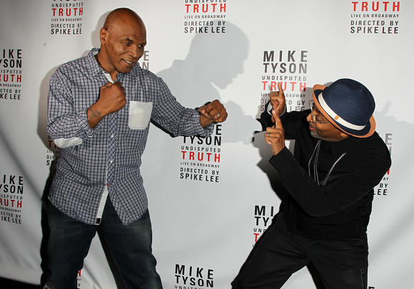 Mike Tyson and Spike Lee at 'Undisputed Truth'