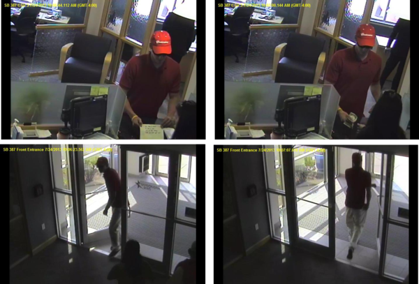 A man robbed the Susquehanna Bank at 9401 Coastal Highway on Wednesday, July 24, 2013.