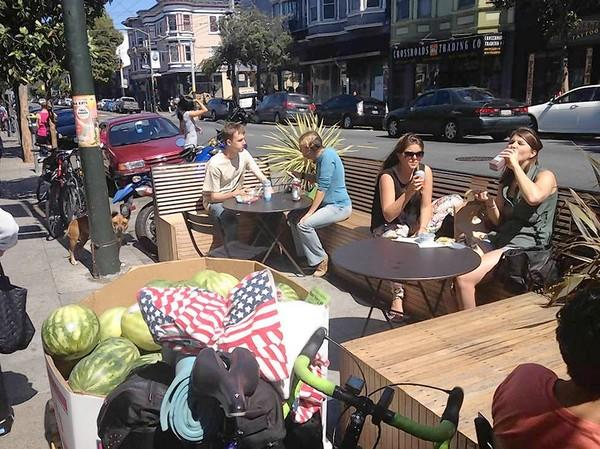 San Francisco is removing parking in favor of parklets like this one.