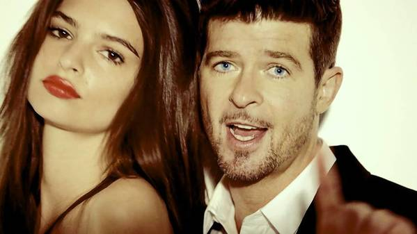 "Robin Thicke, right, takes offense to the charge that ""Blurred Lines"" is ""rapey,"" but the rationale for that accusation is difficult to miss."