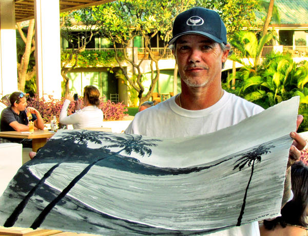 Marine life artist Wyland will demonstrate the sumi-e style of painting with only black ink during a two-day event in August.