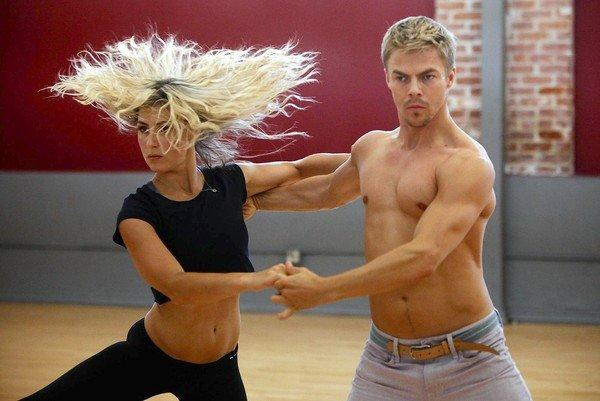 "Derek Hough and Emma Slater, on ""Dancing With the Stars."""