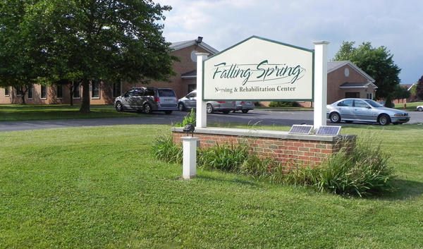 Franklin County, Pa., officials are looking to sell the county-owned Falling Spring Nursing and Rehabilitation Center on Franklin Farm Lane in Chambersburg, Pa. County officials said at least 12 groups are considering submitting proposals to buy it.