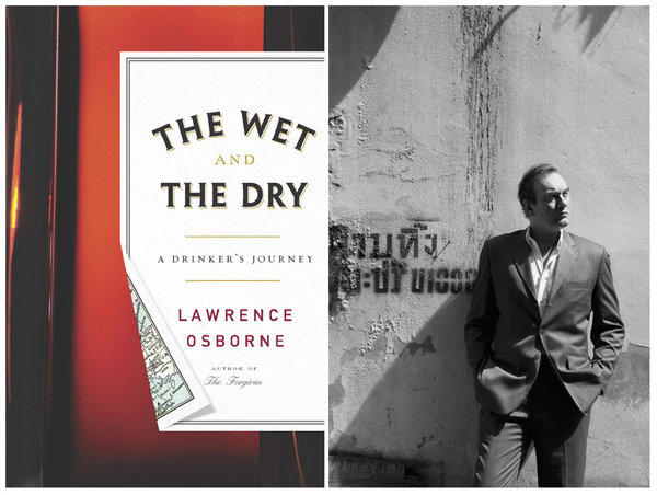 "The cover of ""The Wet and the Dry"" and author Lawrence Osborne."
