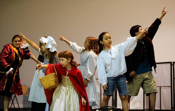 "Youngsters attending Caponi's Cannolis School of the Arts' summer drama camp rehearse ""Into the Woods, Jr."", on Tuesday, July 23, 2013. Their performance will be on Friday, July 26 7 p.m."