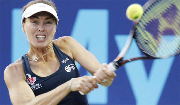 Martina Hingis, who plays for the Washington Kastles, was named World Team Tennis' MVP on Thursday.