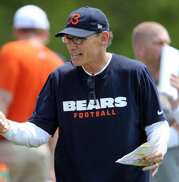 Head coach Marc Trestman. First day of Chicago Bears mini-camp at Halas Hall in Lake Forest.