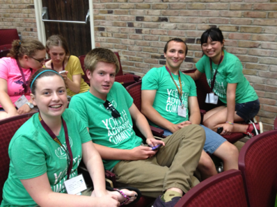 Emily Boyle, Montana Thompson, Timothy Roback and Erin Boyle from the Charlevoix County Community Foundation attend the Youth Grantmakers Summer Leadership Conference at Central Michigan University in Mount Pleasant.