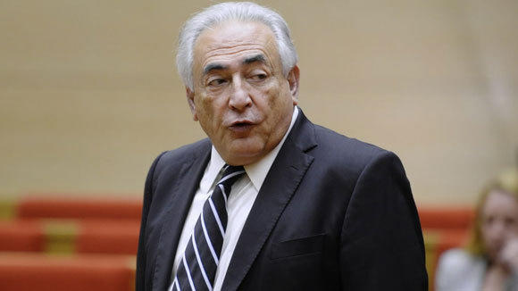 Former IMF chief Dominique Strauss-Kahn is shown at a hearing of the French Senate last month in Paris.