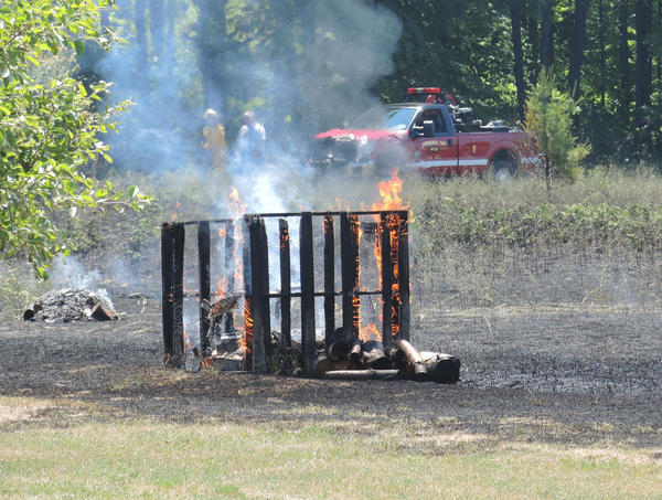 A mutual aid call was made at approx. 2:30 p.m. on July 15, 2013, after a brush fire was reported along Pickerel Lake Road in Springvale Township.
