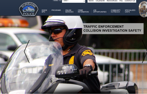 Burbank police on Friday launched a new website.