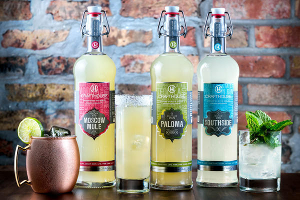 Crafthouse Cocktails are available in Moscow Mule, Paloma and Southside varieties.