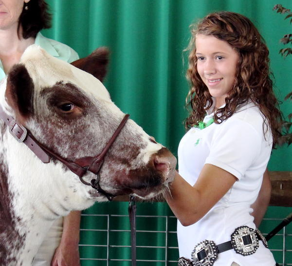 Fourteen-year-old Rachel Clark of Mercersburg, Pa., took home the prize for her grand champion heifer.