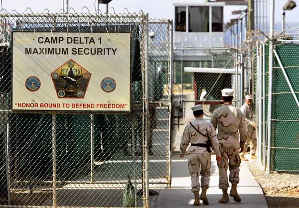 Camp Delta, the military-run prison at the U.S. naval base at Guantanamo Bay, Cuba. The Obama administration has announced plans to transfer two prisoners to Algeria as President Obama renews a push to close the camp.