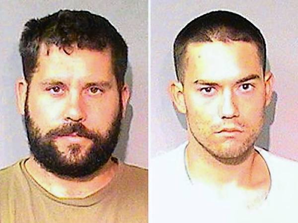 Ryan Balletto, 30, of Lakeport, left, and Patrick Pearmain, 24, of Clearlake. The two men allegedly kept a Los Angeles-area girl in a metal box on a Lake County property and sexually abused her. They had been under federal investigation for the previous 18 months, court documents said.