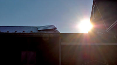A solar panel was installed on the First United Methodist Church in Somerset.