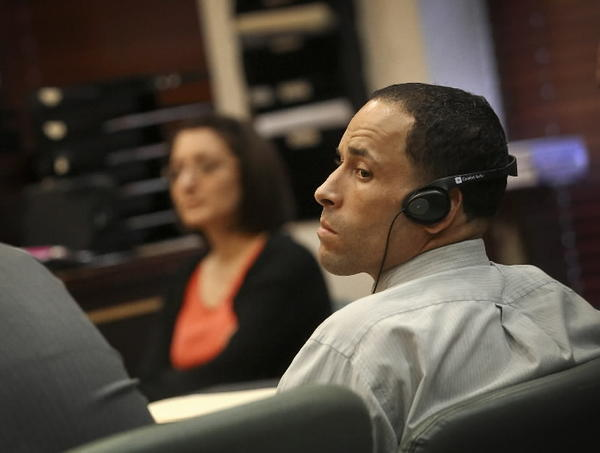 Hector Rodriguez listens in during his trial at the Orange County Courthouse on Wednesday, July 24, 2013.