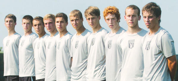 Boyle County seniors, from left to right, Ethan Edwards, Tristen Morrow, Luc West, J.T. Stephens, Dominic Oliverio, Matthew Farr, Ben Underwood, Hunter Overstreet, Bailey Snow and Noah Conley, form a large leadership class that they hope can lead the Rebels to their first district championship since 2008.