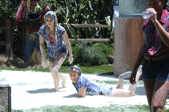 "Aaryn (left) and GinaMarie have kicked up controversy with their racial remarks this summer on ""Big Brother."" CBS chief Les Moonves said some of the behavior seen on the show is ""absolutely appalling."""