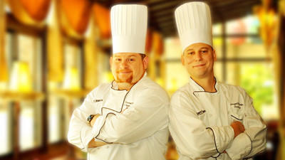 Joseph Rocker (right) has been named sous chef and Patrick Marshall (left) has been named executive chef at the Holiday Inn in Johnstown.
