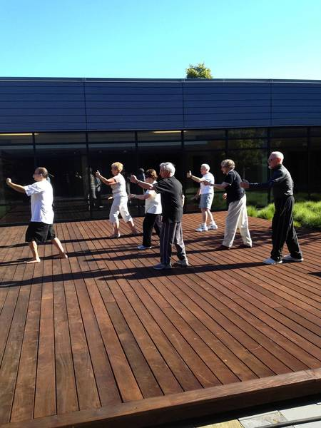 The weekly Tai chi class at B'nai Jehoshua Beth Elohim in Deerfield.