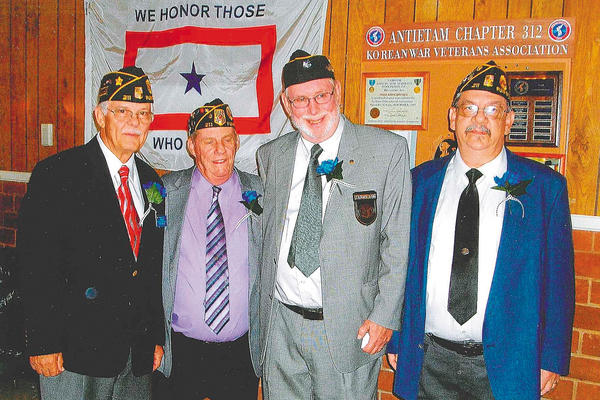 The Dixon-Troxell Post 211 American Legion in Funkstown inducted new officers on July 26. The new officers are, from left, Charlie Batt, commander; Dick Shipley, third vice commander; Pat Ham, vice commander; and Don Snyder, second vice commander.