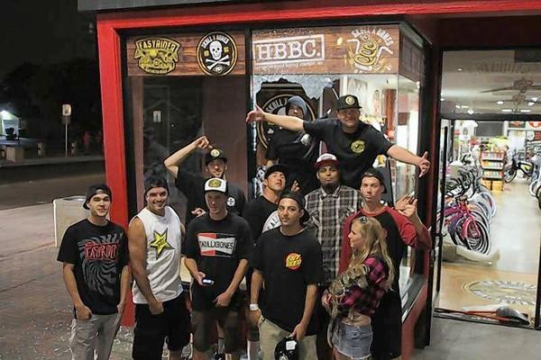 The employees at Easyrider who helped saved the store from looters after the U.S. Open of Surfing ended Sunday evening.