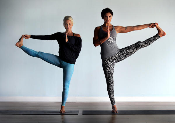 Paige Held (left) and Kelly Green of The Yoga Joint. The a popular Fort Lauderdale yoga studio is opening a second location in Fort Lauderdale called Yoga Joint South on 17th Street Causeway.