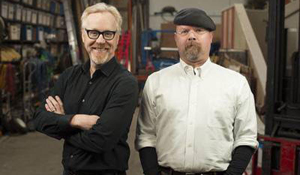 "Adam Savage, left, and Jamie Hyneman star in ""Mythbusters"""