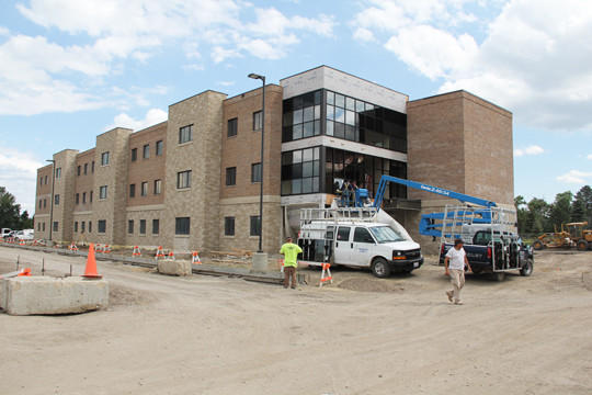 Additional housing suites for students are being built closer to campus buildings at Presentation College. Half of the project will be completed before students arrive for the fall semester and the rest will be done later this fall. The suites will eventually hold 158 residents.