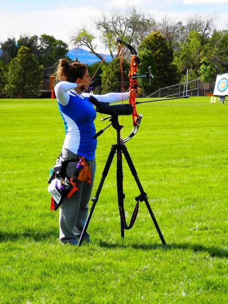 Rebecca Boyer, 23 of Palmerton, finished second in the country indoors and outdoors during national collegiate archery championships this year.