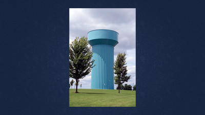 A water tank at the State Correctional Institution-Somerset, which may have been the source of the Legionnaires bacterium.