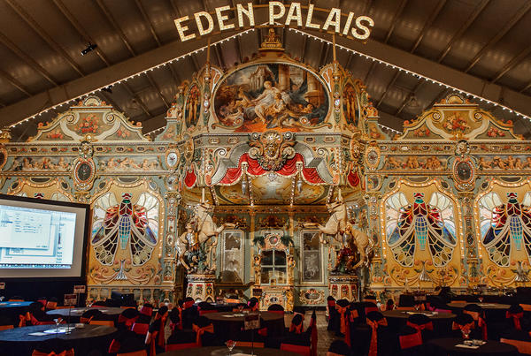 "The Eden Palais, an 1890 European salon carousel housed in Illinois, will have participants going round and round this weekend as they ""dial for donations"" using their cell phones. The fundraiser is organized by the Costa Mesa-based Festival of Children Foundation."