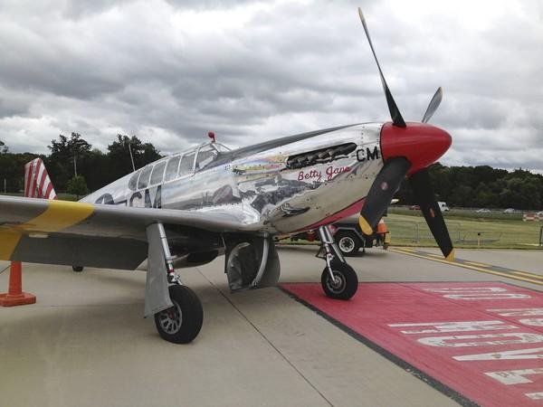 A P-51 Mustang from World War II was available for rides last weekend at the Chicago Executive Airport in Wheeling.