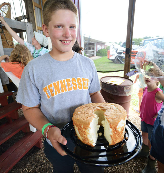 Garrett Koser of Hagerstowns Angel Sponge Chiffon Cake was named 4-H Baked Goods Champion at the Washington County Ag Expo & Fair.