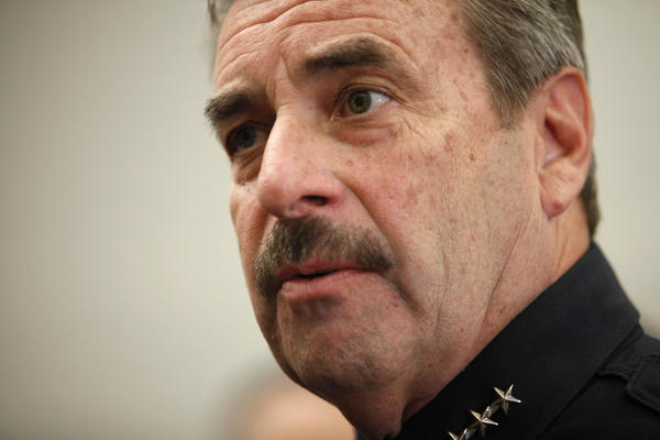 Police Chief Charlie Beck has overseen reforms on how racial profiling cases are handled in the Los Angeles Police Department.