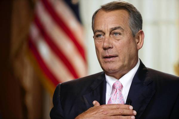 """We should be judged on how many laws we repeal,"" House Speaker John Boehner said Sunday on CBS' ""Face the Nation."""