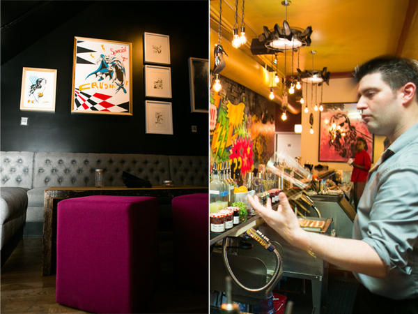 Two art gallery-inspired bars have opened this summer.