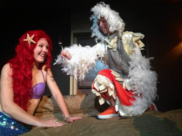 "From left, Cassidy Kearney and Isa Simmons in the Bay Street Players' Summer Camp production of Disney's ""The Little Mermaid Jr."""