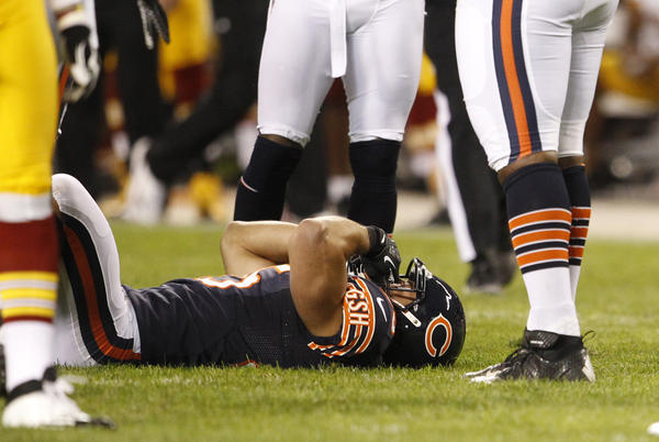Bears safety Brandon Hardin was injured during the exhibition season last year.