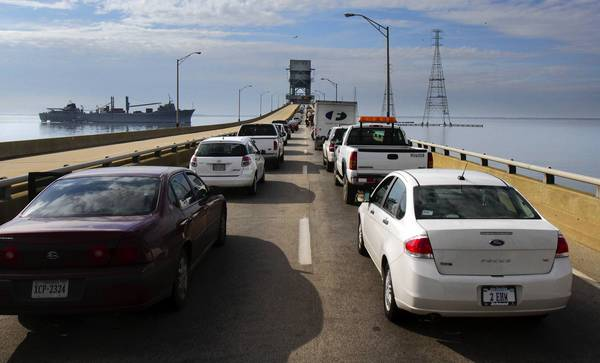 The work on the James River Bridge will begin at 7 a.m. and last until 3 p.m. VDOT said test lifts were scheduled for the late morning and early afternoon hours. Each one is expected to last 20 minutes.