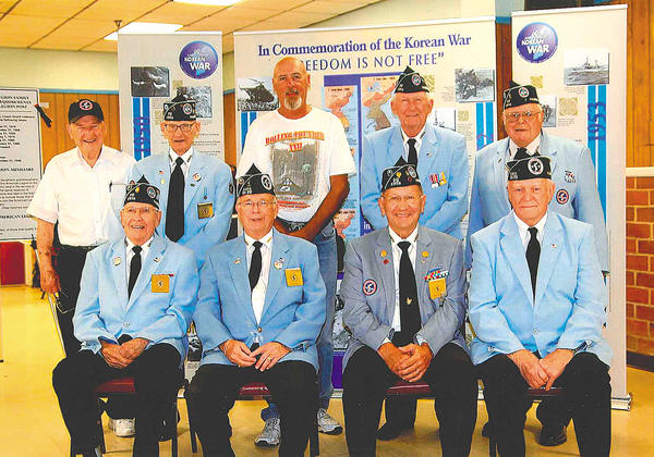 Pictured are members of the Antietam Chapter 312 of the Korean War Veterans Association.