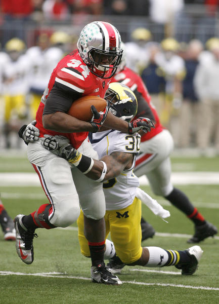 Ohio State running back Carlos Hyde will not be charged in an alleged assault but has been suspended for at least three games.