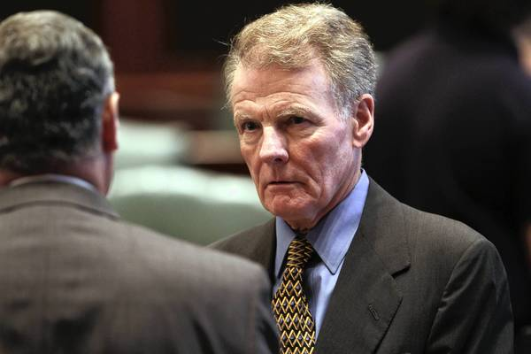 House Speaker Michael Madigan and Senate President John Cullerton filed a lawsuit against Gov. Pat Quinn on Tuesday.