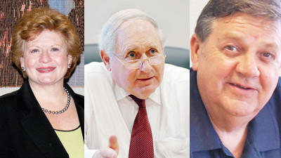 Senators Debbie Stabenow (from left), Carl Levin and Congressman Dan Benishek will consider the Fiscal Year 2014 Interior and Environment Bill when it comes to the House floor.